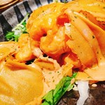 魚と日本酒 魚バカ一代 - エビマヨ開封後