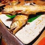 魚と日本酒 魚バカ一代 - 鮎の塩焼き