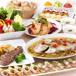 旬の地元食材が味わえるコース◆お飲み物も種類豊富にご用意