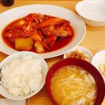 食堂まきの - かぶと煮定食
