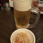 Gyouzasakabaootaya - 生ビールとお通し