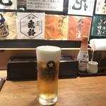 信州そばと地酒 小木曽製粉所 - サッポロ生ビール@550円