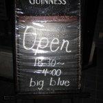 BIG BLUE - 早朝4時まで営業