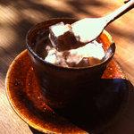 祇園NITI - ほうじ茶のミルクプリン