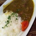 ロス・バルバドス - 4回目2012年1月10日ギニア料理 ギニアのほうれん草シチュウ:牛肉と青菜のピーナッツ煮込み