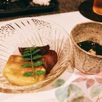 たつかわ - ○焼き茄子&原木木耳、沖縄細もずく様