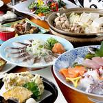 波平キッチン - 【飲み放題付】海鮮コース4000円