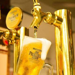 ビールの美味しい季節です♪+500円で生ビール付飲み放題に!