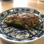 江戸政 - ピーマン肉詰め