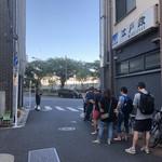 江戸政 - 開店40分前の絵図