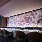 香桃 - 陶片で作成された壁面のセラミックアート