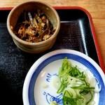 うどん山菜 塩屋 - 昆布の佃煮と薬味