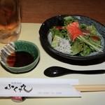 旬魚 旬彩 ふく丸 - 料理写真:サラダとともにまずは一杯!