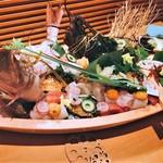 旬味千菜 蓮こん - 料理写真:舟盛り