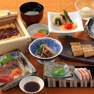選べる3つの懐石でとことん味わう鰻料理の数々