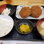串鳥 - メンチカツ定食(税込580円)