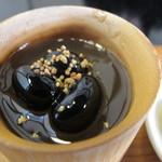 紫仙庵 - 黒豆寒天
