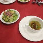 レストラン西櫻亭 - サラダとスープ