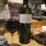 酉の - 血肝に合わせて赤ワイン