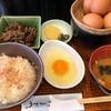 Tamagoya - 料理写真:玉かけめし 734円。牛しぐれ煮 302円。