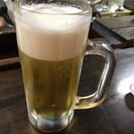 ホルモン処 川崎横丁 - やっぱり先ずは生ビール