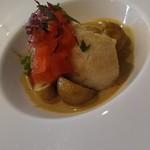 アンシエーヌ - 真鯛のソテー ボルチーニ茸のクリームソース