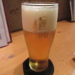そば 長谷川 - セットの「生ビール」