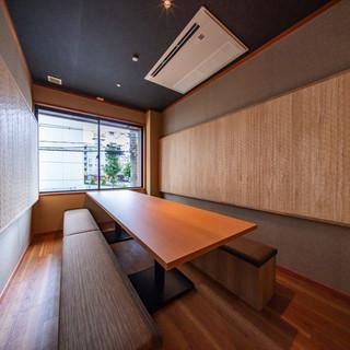 2階にある完全個室です。40名様までの大人数宴会やプライベートなどにも最適です。