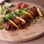 Modern Mexican MAYAluz - パインと豚肩ロースの串焼き