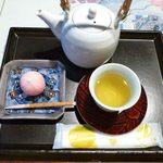 森八 ひがし三番丁店 - 加賀献上棒茶・上生菓子