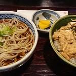 手打ちそば 菊園 - ミニ親子丼、ミニ蕎麦セット(税込830円)
