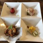 中華バルSAISAI。 - 前菜の盛り合わせ