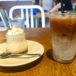 デイリーズカフェ - アイス豆乳オ530円 三鷹プリン  460円
