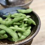 個室 霜降り肉寿司食べ放題 たてがみ - ガーリック枝豆
