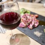 個室 霜降り肉寿司食べ放題 タテガミ - グラスワイン赤