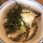 鯖と創作料理の店 廣半 - いわし丼膳2500円。いわし丼アップ。丼単品もありました1300円。結果的に、単品の方が良かったかも。。。