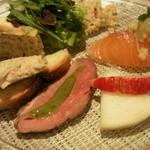 Ruban - Aランチ パスタなしの方の前菜の盛り合わせ