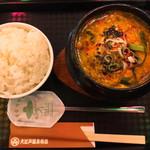 韓味村 - 料理写真:スンドゥブチゲ 1,070円 ライス小 200円