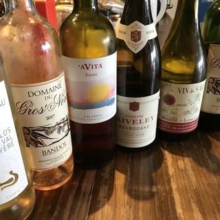 ワインは全90種類以上!グラスワインは日替わりで色々ご用意!