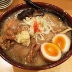 札幌 みその - 炙りブリュード盛り味噌とろーり味玉入り‼️
