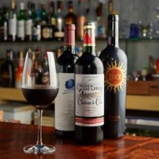 お好きなお酒をお供に…ワインにこだわっています!!