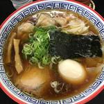 111433196 - ワンタン麺(1130円) + 名古屋コーチン味付玉子(100円)