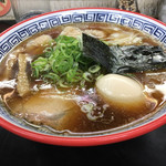 111433197 - ワンタン麺(1130円) + 名古屋コーチン味付玉子(100円)