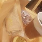 ファーマーズ カフェ トウキョウ - ランチセット850円+古代米お握り+さつまいものケーキ