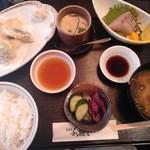 和歌里 - 天ぷらと刺身の定食
