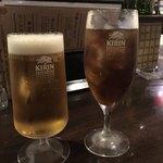 鉄板バル ラタンタ - 生ビールとウーロン茶