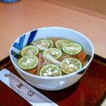 そば処 桝富 - 料理写真:☆すだち蕎麦 冷やかけ 900円