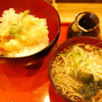 食菜 かま田 - 天丼セット 800円