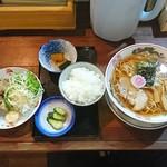 弐庵 - 料理写真:煮干ラーメンと唐揚げセット