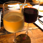 南欧風味堂 桝屋 - グラスワイン赤、白  各  ¥500+税